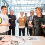 """Wir Haben Energie! Abschlussveranstaltung und Preisverleihung in der NRW-BANK Düsseldorf mit Ministerin Sylvia Löhrmann. """"Unsere Umwelt – unsere Zukunft"""" so lautete das Motto des diesjährigen Schulwettbewerbs. Gesucht wurden innovative Unterrichtsideen und -projekte – immer mit dem Fokus auf das diesjährige Motto in Bezug auferneuerbare Energien, Energieeffizienz und dem Schutz der Umwelt. Foto: Udo Geisler"""